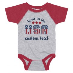Born In The USA Custom Onesie