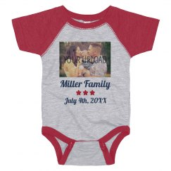 Custom Upload Family Name Onesie
