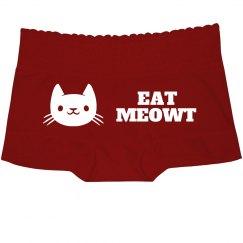 Lace Eat Meowt Booty Shorts