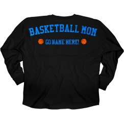 Metallic Blue Basketball Mom