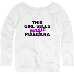 This girl sells Magic Mascara