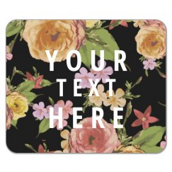 Custom Floral Mousepad