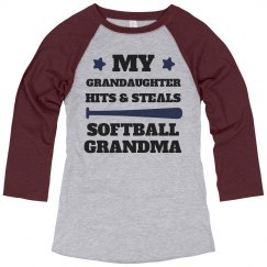 Hits And Steals Softball Grandma