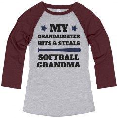 Hits And Steals Softball Grandma