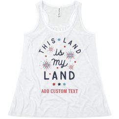 My Land Custom Text Tank