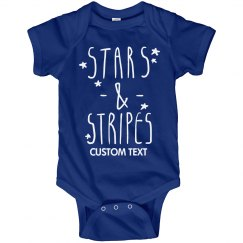 Customizable Stars and Stripes Bodysuit
