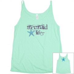 Mermaid life summer tank top,