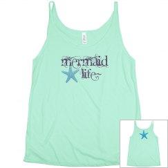 Mermaid life summer tank top,