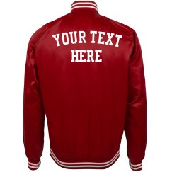 Customize Text Bomber Jacket