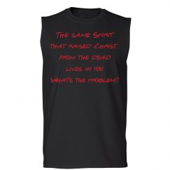 Red on Black Sleeveless T