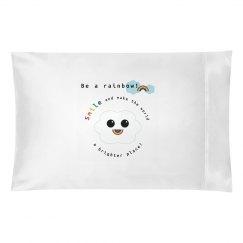 Rainbow Smile Pillowcase