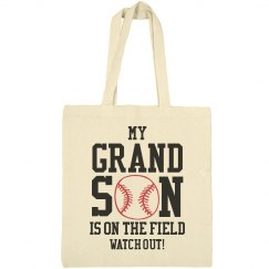 My Grandson Is On The Field Tote