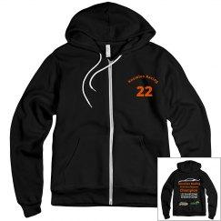 Men's sponsor zip hoodie