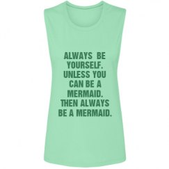 Ladies Flowy Scoop Muscle Tank