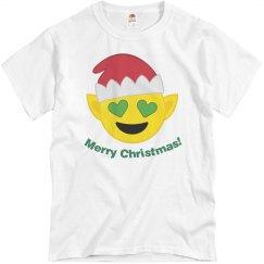 Elf Santa Emoji  wht
