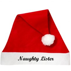 Naughty List Santa Hat