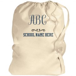 Custom School Bag With Initials