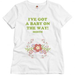 Floral A Baby Is On The Way!