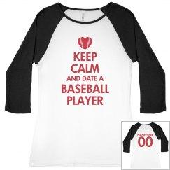 Keep Calm Date Baseball
