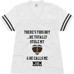 Football mom - white jersey