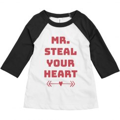 Mr. Steal Your Heart Toddler Raglan