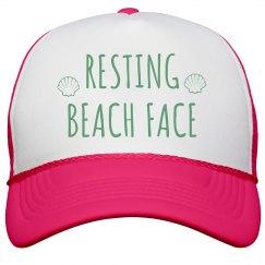 Resting Beach Face Hat