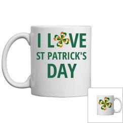 I Love St Patricks Day, Mug