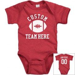 Custom Football Team Name Baby