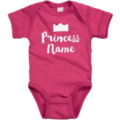 Princess Add Name Custom Baby Gift
