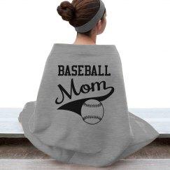Baseball Mom Blanket in Grey