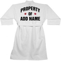 Custom Property Of Spa Robe