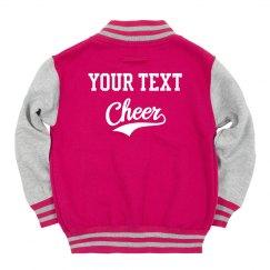 Custom Back Print Cheerleader Girl