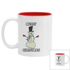 Merry Christmas Snowman Mug