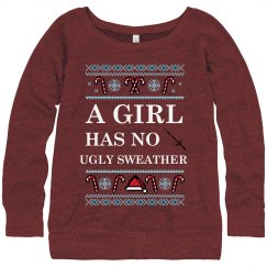 A Girl Has No Ugly Sweater