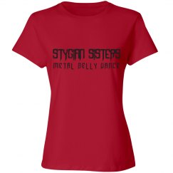 Ladies T-Shirt - Black Letter Logo (Many Shirt Colors!)