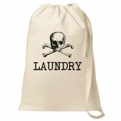 Skull Crossbones Large Laundry Bag