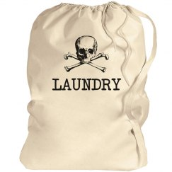 Skull Crossbones Large Laundry Bag