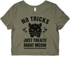 No Tricks Just Treats Right Meow