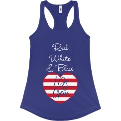 Red, White & Blue I Do Crew (Blue)