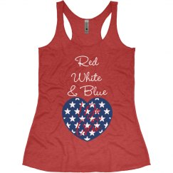 Red, White & Blue I Do Crew (Red)