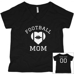 Custom Name/Number Football Mom