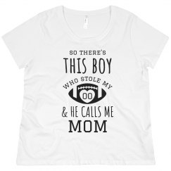 He Stole My Heart Football Mom