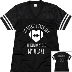 Stolen Heart Football Mom Jersey