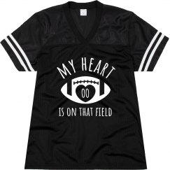 My Football Heart Custom Mom