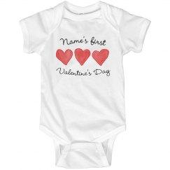 Custom Baby's First V-Day