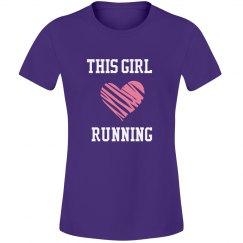 Girl loves running