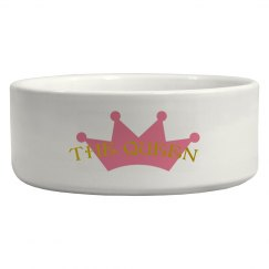 The Queen Pet bowl