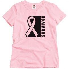 Survivor Tshirt Black Print