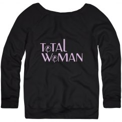 Total Woman Logo sweatshirt - light purple on black