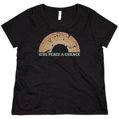 Give Peace A Chance | Women's Curvy Tee